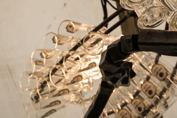 geschmiedeter Kronleuchter aus der Telchinen - Schmiede