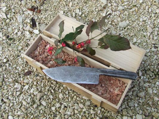 Chef-Knive / großes Küchenmesser aus Feilenstahl geschmiedet