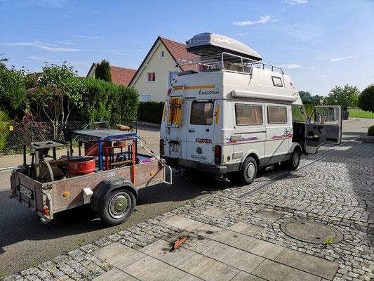 Treffen der Schmiede in der alten Schöpf´schen Schmiede in Niefern-Öschelbronn / noch ein Spielmobil der Telchinen-Schmiede