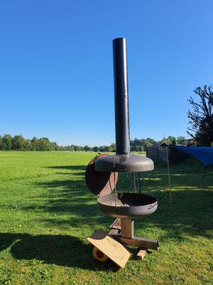 Der Prototyp brennt das erste mal.