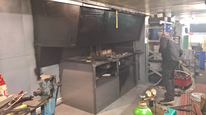 Die Schmiede-Einbauküche in Arbeit