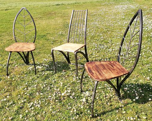 geschmiedete Stühle