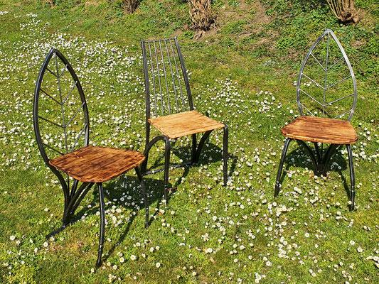 geschmiedete Stühle aus der Telchinen-Schmiede