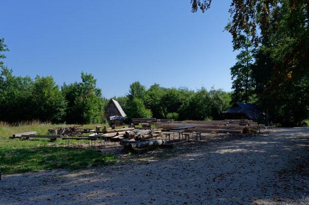 Campus Galli / Balkenlager für den Stadel