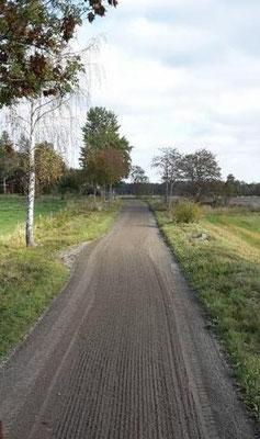 Wegeunterhalt ohne Zugabe von frischem Kies