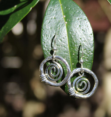 All sterling silver hoops and ear wires  $30