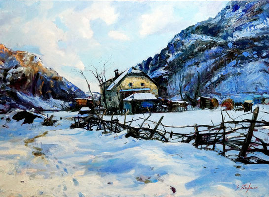 Valbona 110x80cm oil on linencanvas