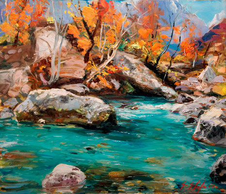 Valbona 2015 oil on linencanvas