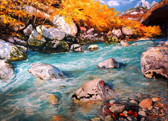 Valbona 128x94.5cm oil on linen canvas