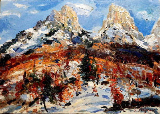 Valbona 70x50cm oil on linencanvas