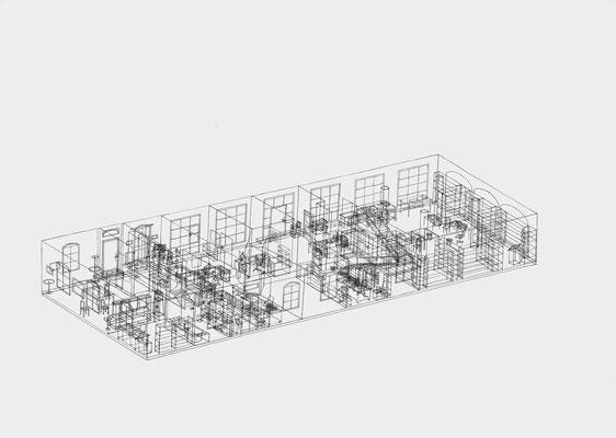 Park Georgium/Remise . 2019-2020 . Bleistift auf Papier . 50 x 70 cm