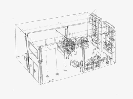 LIA Studio Julia Stoddart . 2017 . Bleistift auf Papier . 30 x 40 cm . Privatsammlung