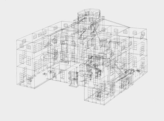 Park Georgium/Schloss . 2019-2020 . Bleistift auf Papier . 60 x 80 cm