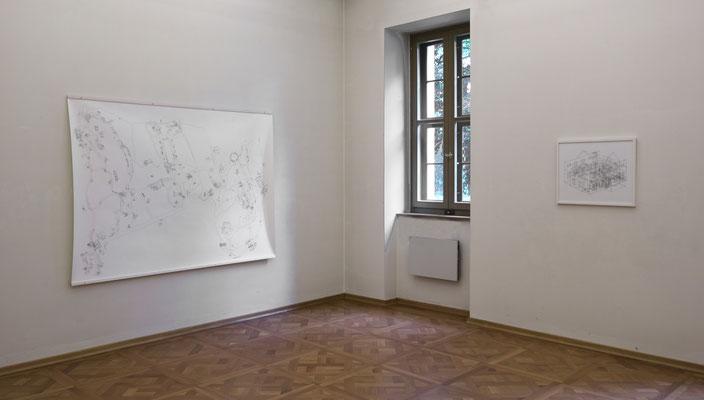 Park Georgium . 2020 . Ausstellungsansicht . Graphische Sammlung Anhaltische Gemäldegalerie Dessau