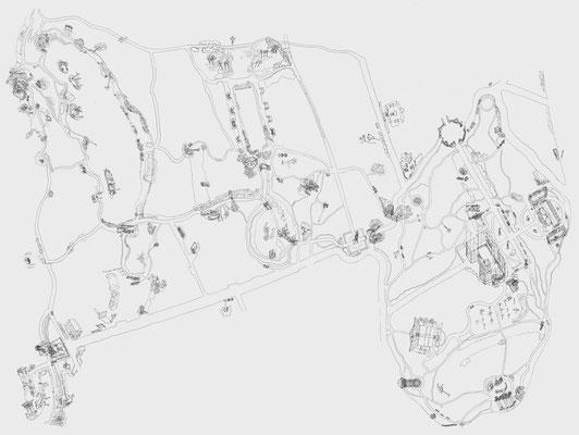 Park Georgium/Plan . 2019-2020 . Bleistift auf Papier . 145 x 200 cm