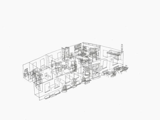 Mule . 2017 . Bleistift auf Papier . 30 x 40 cm