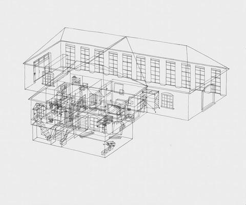 Park Georgium/Orangerie . 2019-2020 . Bleistift auf Papier . 50 x 60 cm