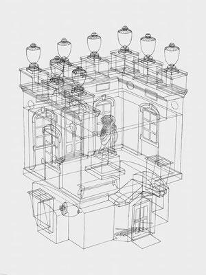 Park Georgium/Vasenhaus . 2019-2020 . Bleistift auf Papier . 40 x 30 cm