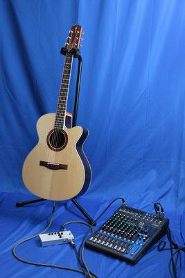 ギターとプリアンプ (ミキサーは含まれておりません)