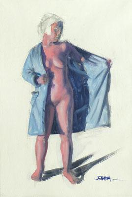 ALIX - Huile sur papier - 41 x 27 cm