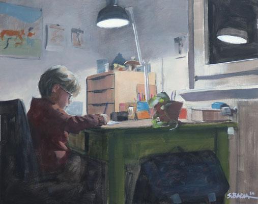 Timothy - Huile sur panneau - 50 x 40 cm