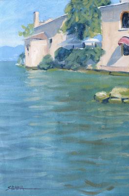 Punta San Vigilio - Huile sur papier - 41 x 27 cm