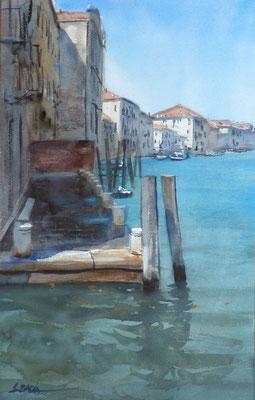 Venise - Un canal - Aquarelle