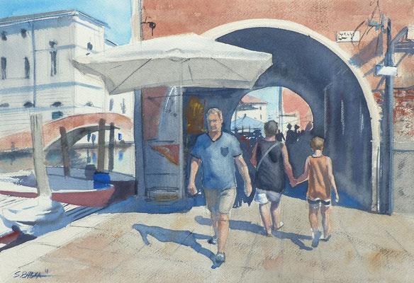Chioggia - aquarelle sur papier 55 x 38 cm