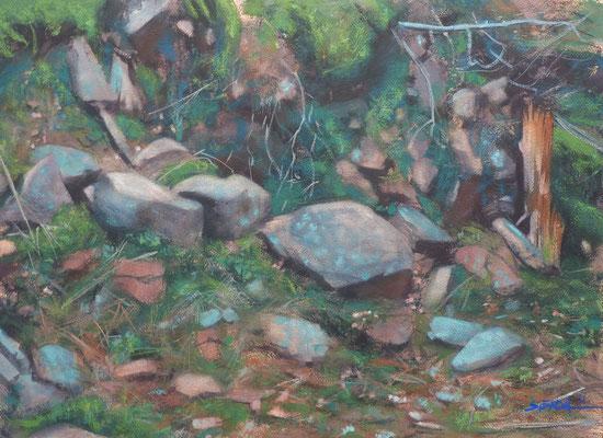 Quelconque 1 - aquarelle sur papier - 56 x 76 cm