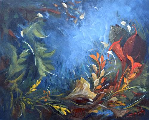 Emportées par le vent - Format 24 x 30 pouces - Acrylique