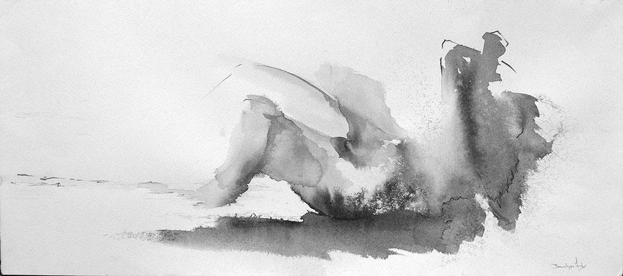 Encre de chine et graphite sur papier