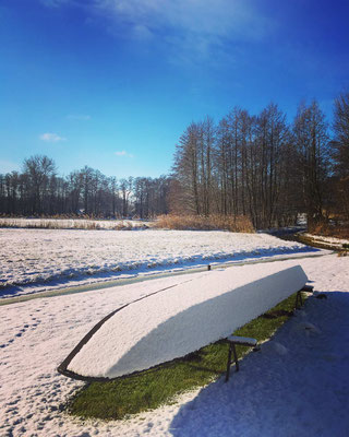Spreewaldkahn im Winter