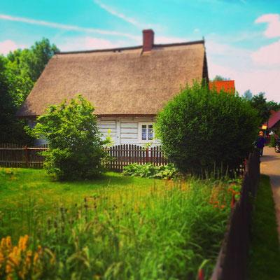 Bauernhaus mit Reetdach in Lehde im Spreewald