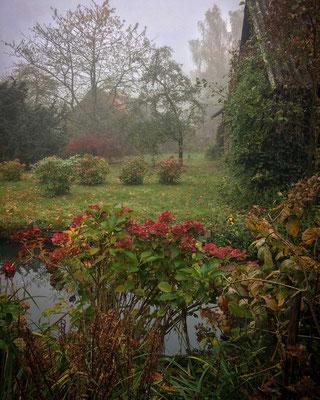 herbstliche Vorgärten bei Lehde im Spreewald
