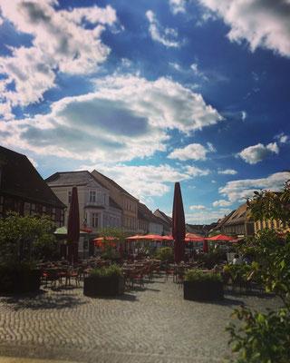 auf dem Markplatz in Lübbenau im Spreewald