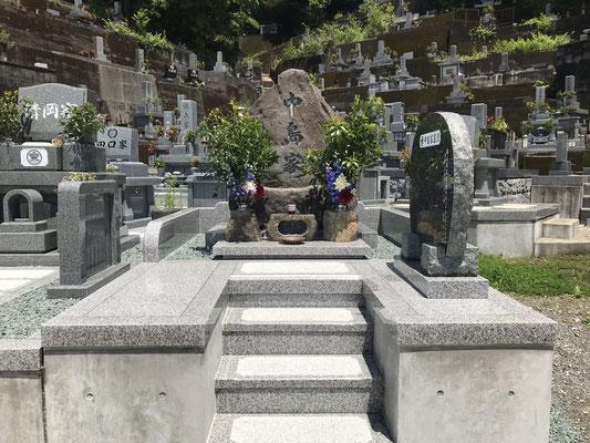 自然石風墓石