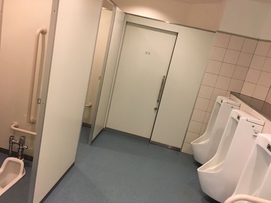 フラワーパーク江南_クリスタルフラワー内トイレ