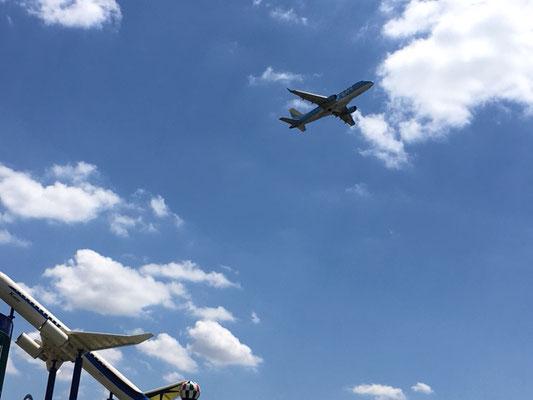エアフロントオアシス(小針公園)_至近距離を飛行機が