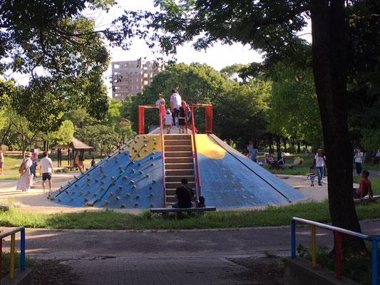 大高緑地_恐竜広場横の児童園遊具_001