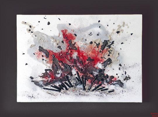 14. Explosion, 80x60, gesteigert für 50€