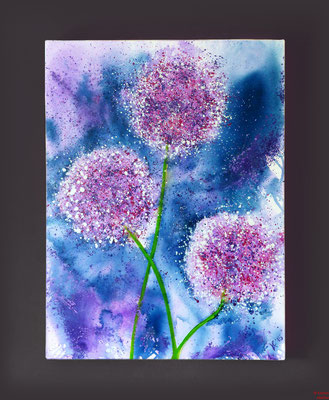 Allium, Acryl, 2015, 100x70x2