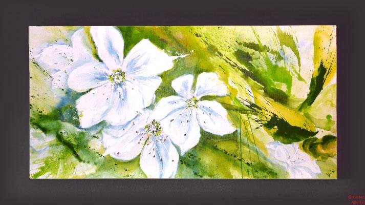 Kirschblüten, Acryl, 2016, 100x50x2, sold