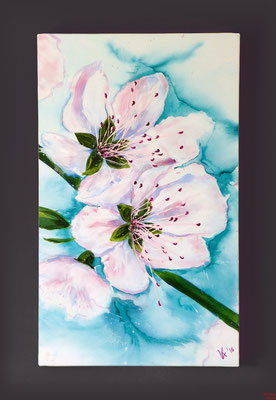 Kirschblüten, Acryl 2016