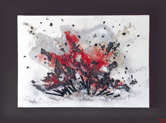 Explosion, mixed media, 2015, 80x60x4,5, sold