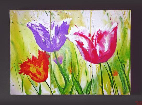 Tulpen, Acryl, 2015, 120x80x2, sold