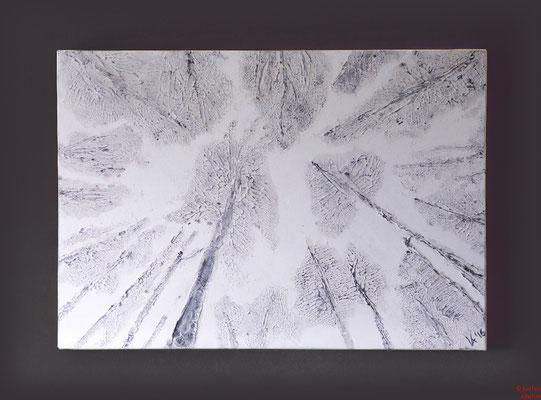 Silberwald, Acryl mixed media, 2016, 80x60x2