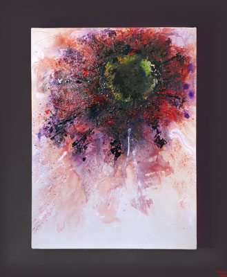 Mohn, mixed media, 2015, 60x80x2, sold