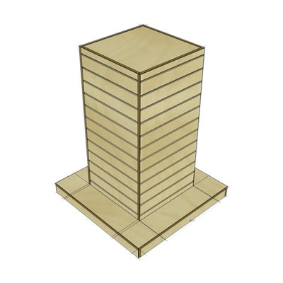 Гондола Большая башня. Ширина 1000 мм (основание). Глубина 1000 мм (основание). Высота 1300 мм.