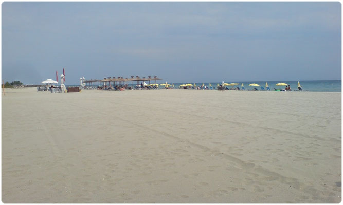 Paralia Pieria sandy beach