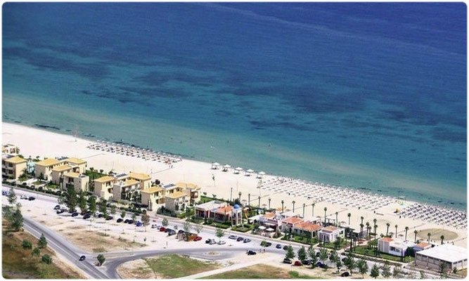 Paralia from helicopter